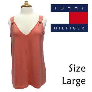 Tommy Hilfiger Peach Sleeveless V-Neck Size Large
